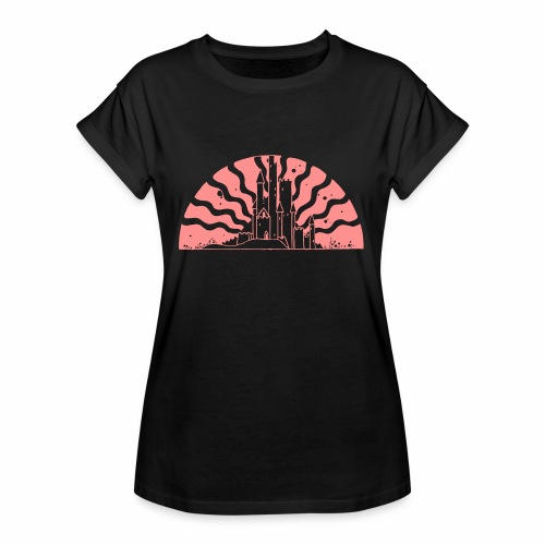 Fairytale Castle Sunrise - Frauen Oversize T-Shirt