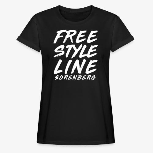 line brush white - Frauen Oversize T-Shirt