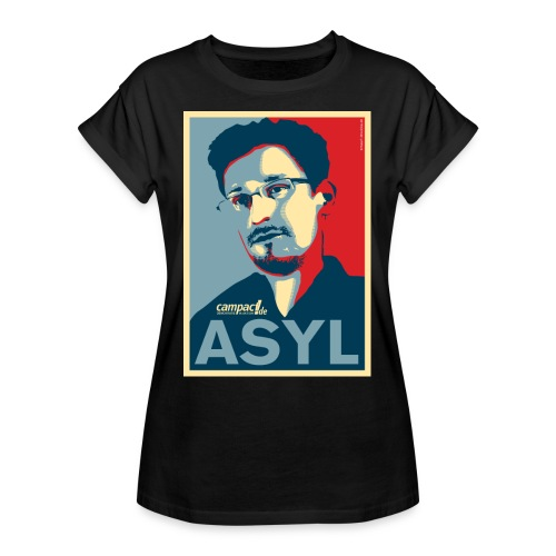 Asyl für Edward Snowden - Frauen Oversize T-Shirt
