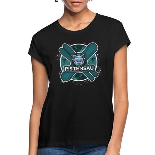 PistenSau Nervenkitzeljägergrün - Frauen Oversize T-Shirt