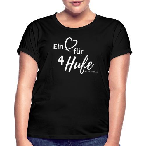Ein Herz für 4 Hufe_Pfad - Frauen Oversize T-Shirt