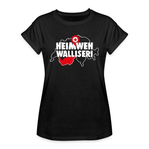 HEIMWEH WALLISERI - Frauen Oversize T-Shirt
