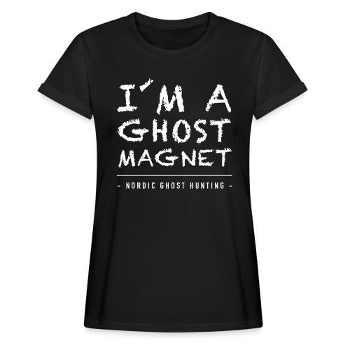 I´m a ghost magnet - Oversize-T-shirt dam