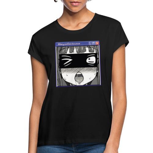 AhegaoSecte.exe - T-shirt oversize Femme