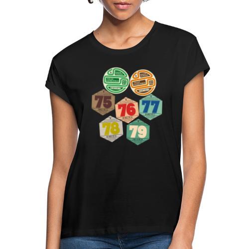 Vignettes automobiles années 70 - T-shirt oversize Femme