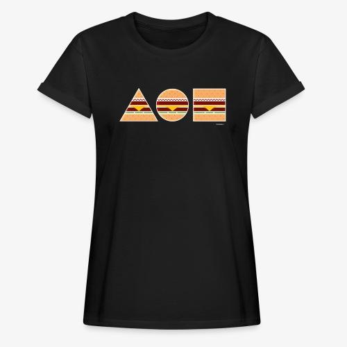 Graphic Burgers - Maglietta ampia da donna