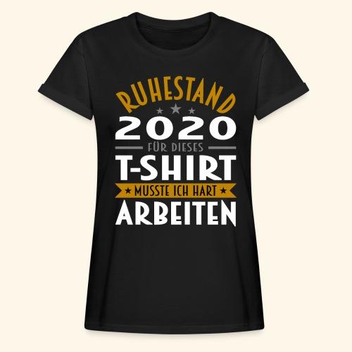 Ruhestand 2020 - Frauen Oversize T-Shirt