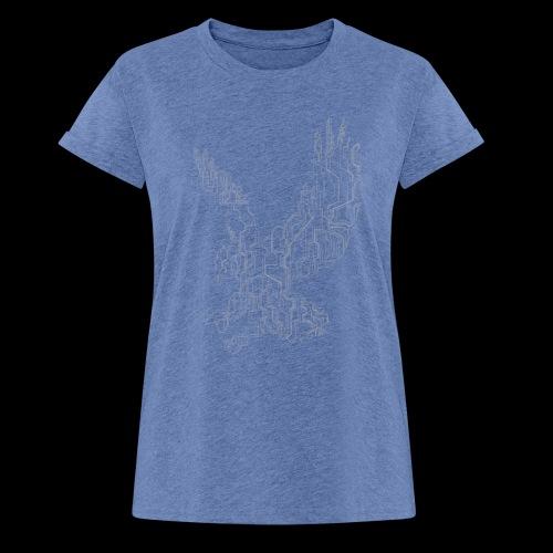 Circuit eagle White - Dame oversize T-shirt