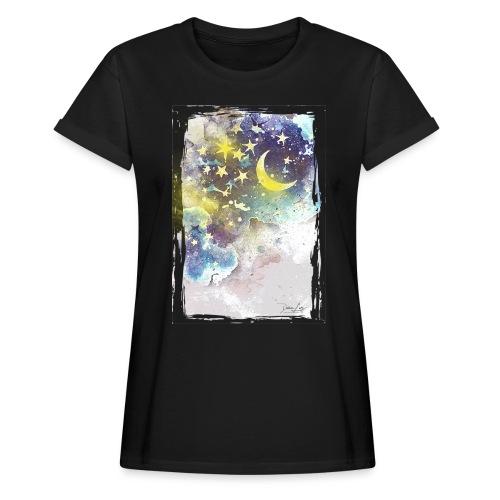 nightsky - Frauen Oversize T-Shirt