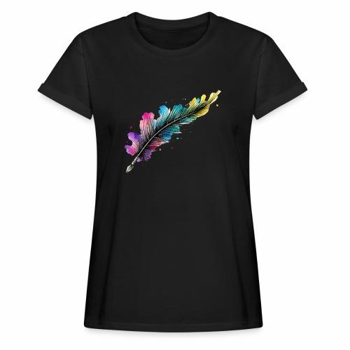 penna piuma - Maglietta ampia da donna
