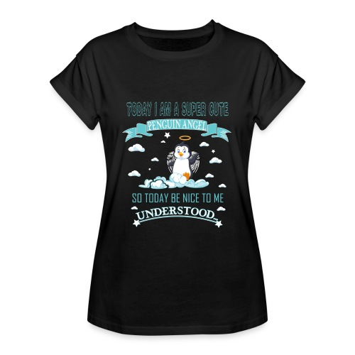 Pinguin Engel Weihnachten Antarktis Shirt Geschenk - Frauen Oversize T-Shirt