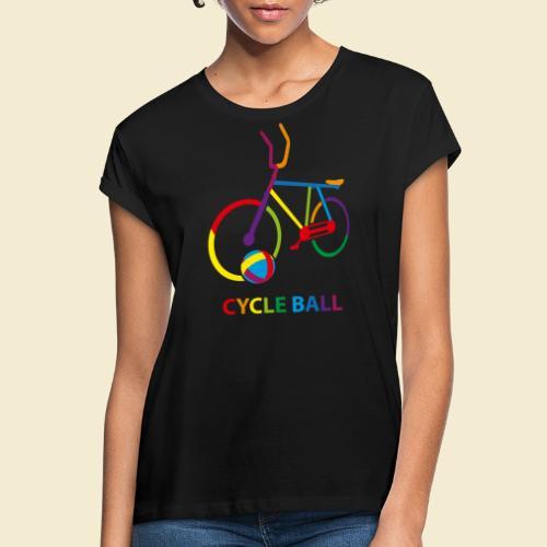 Radball | Cycle Ball Rainbow - Frauen Oversize T-Shirt