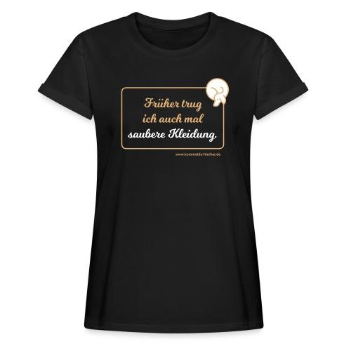 Saubere Kleidung zwei - Frauen Oversize T-Shirt