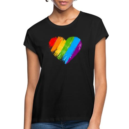 Pride, fram och bak, vit text - Oversize-T-shirt dam