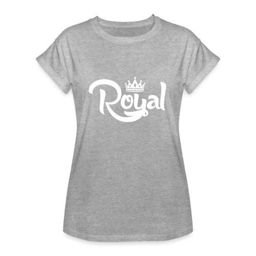 Royal Logo White Edition - Women's Oversize T-Shirt