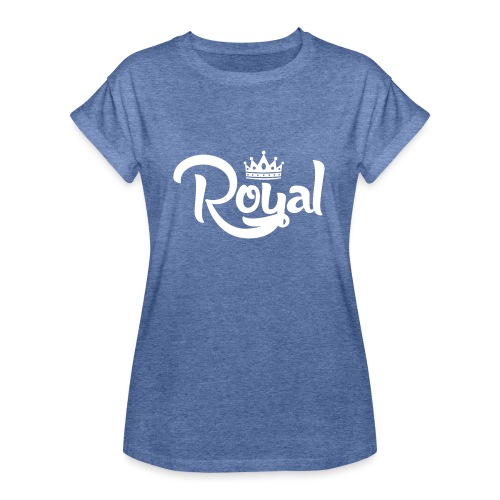 Royal Logo White Edition - Women's Oversize T-Shirt