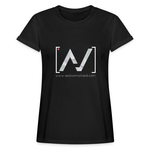 logoalpha blanc - T-shirt oversize Femme