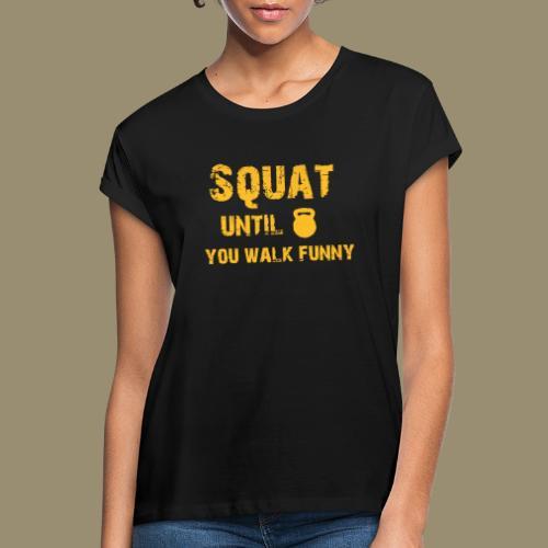 shirtsbydep squat - Vrouwen oversize T-shirt