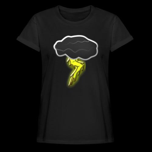 Blitzschlag - Frauen Oversize T-Shirt
