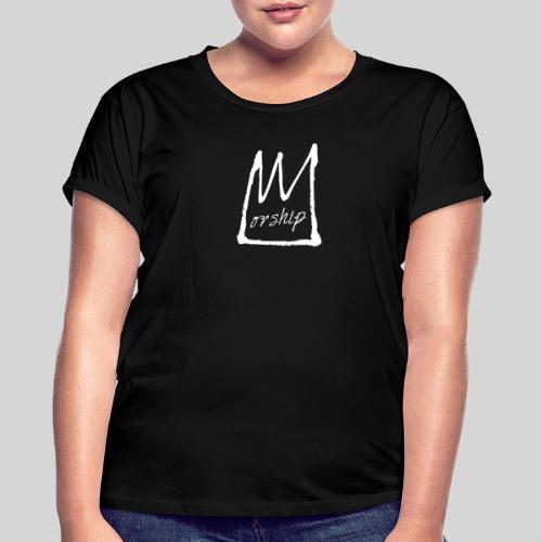 Worship Krone weiß - Lobpreis zu Jesus / Gott - Frauen Oversize T-Shirt