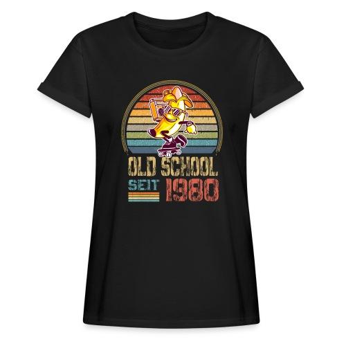 Jahrgang 1980 Skateboard Geburtstag 1980 Geschenk - Frauen Oversize T-Shirt