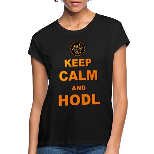 IOTA -keep calm and HODL - Frauen Oversize T-Shirt