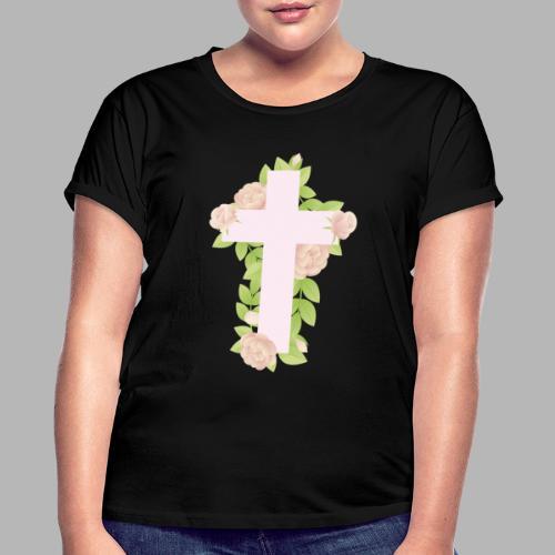 FLOWERS CROSS - Maglietta ampia da donna