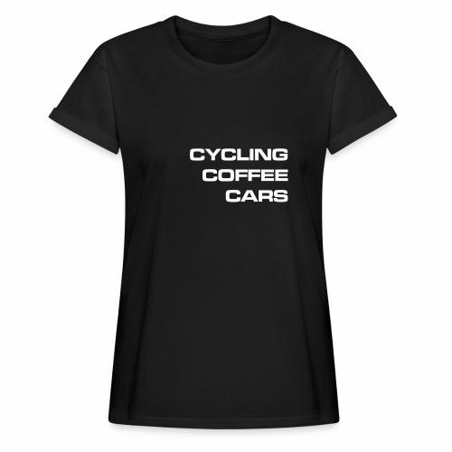 Cycling Cars & Coffee - Women's Oversize T-Shirt