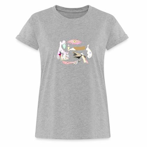 Pintular - Camiseta holgada de mujer
