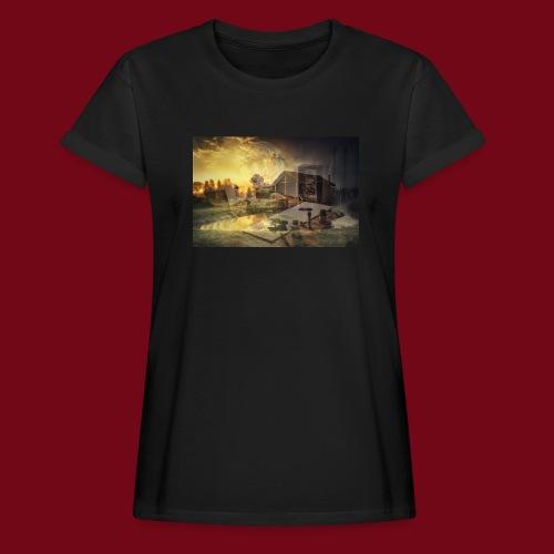 Landhaus - Frauen Oversize T-Shirt