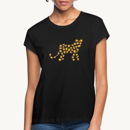 Wildkatze - Fell-Optik - Frauen Oversize T-Shirt