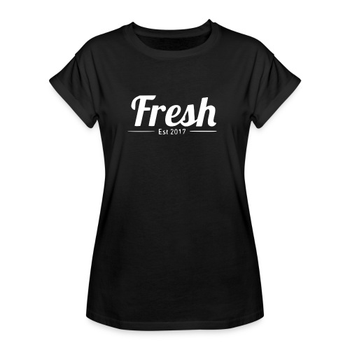 white logo - Women's Oversize T-Shirt