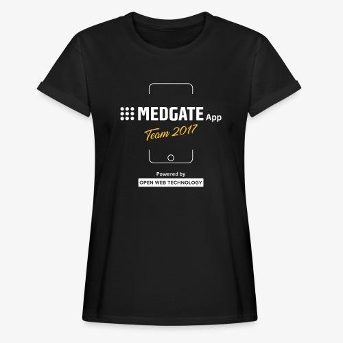 Medgate App Team 2017 Dark - Frauen Oversize T-Shirt