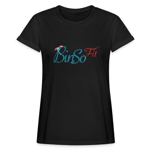 Binso Fit Tshirt Damen - Frauen Oversize T-Shirt