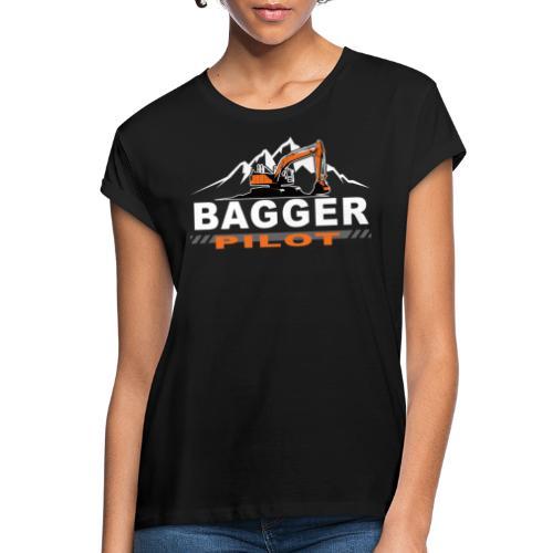 Bagger Pilot Baustelle Baumaschine - Frauen Oversize T-Shirt