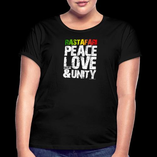 RASTAFARI - PEACE LOVE & UNITY - Frauen Oversize T-Shirt