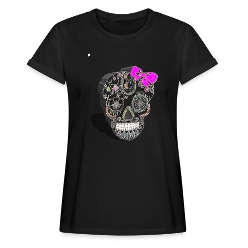 Tête de mort mexicaine 3D - T-shirt oversize Femme
