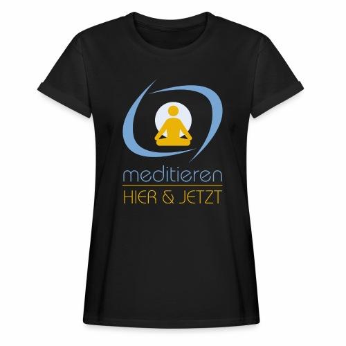 MeditierenHierJetzt.ch - Frauen Oversize T-Shirt