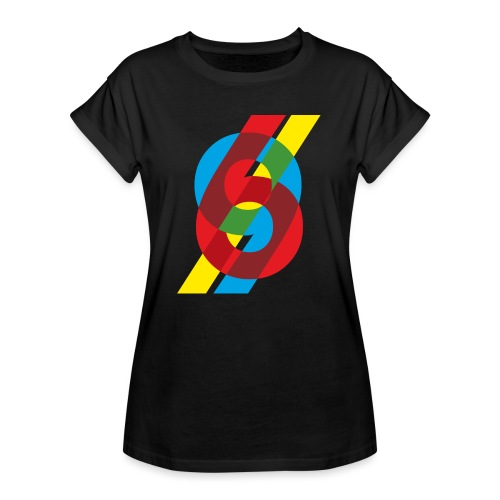 colorful numbers - Women's Oversize T-Shirt