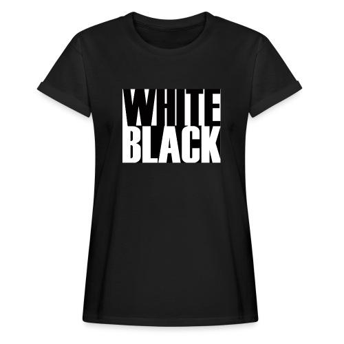 White, Black T-shirt - Vrouwen oversize T-shirt