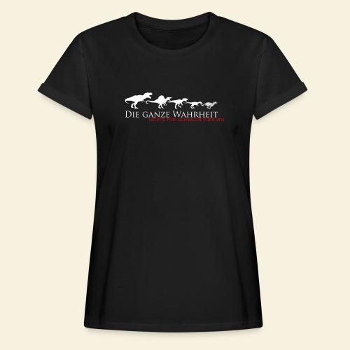Die ganze Wahrheit - Frauen Oversize T-Shirt