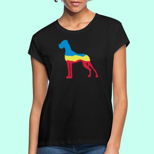 Flaggen Dogge - Frauen Oversize T-Shirt