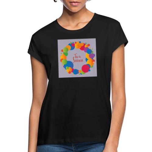Magliette da donna con risvolti - Maglietta ampia da donna