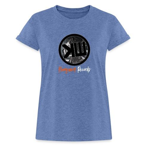 white logo tshirt - Women's Oversize T-Shirt