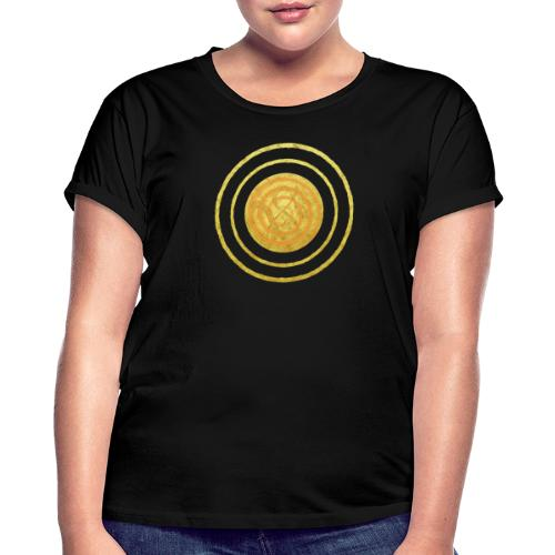 Glückssymbol Sonne - positive Schwingung - Spirale - Frauen Oversize T-Shirt