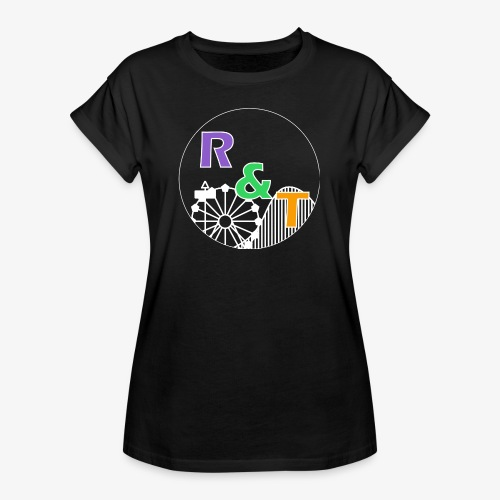 *Limited Edition* Robin & Thomas Merch Wit - Vrouwen oversize T-shirt