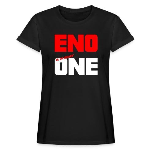 eno is number one - retro / punainen - Naisten oversized-t-paita