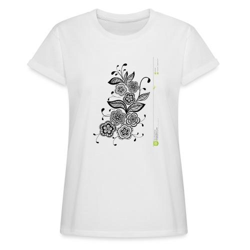 diseño de flores - Camiseta holgada de mujer
