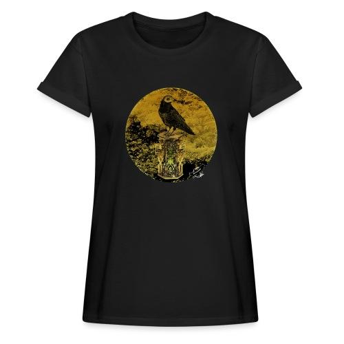 'Memento Mori', round w. logo by BlackenedMoonArts - Dame oversize T-shirt