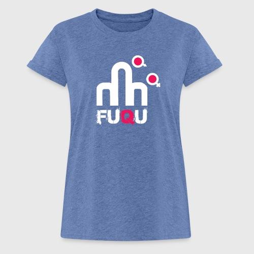 T-shirt FUQU logo colore bianco - Maglietta ampia da donna